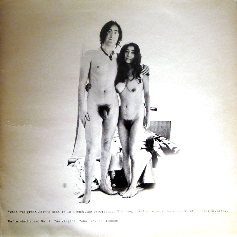 John Lennon and Yoko Ono naked